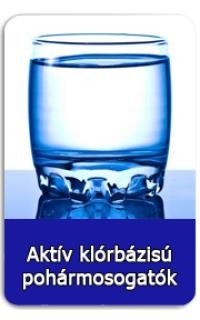 Aktív klórbázisú pohármosogatók